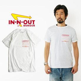 インアンドアウトバーガー 半袖 ポケット Tシャツ ホワイト (メンズ S-XL In-N-Out Burger ご当地Tシャツ 海外買い付け)