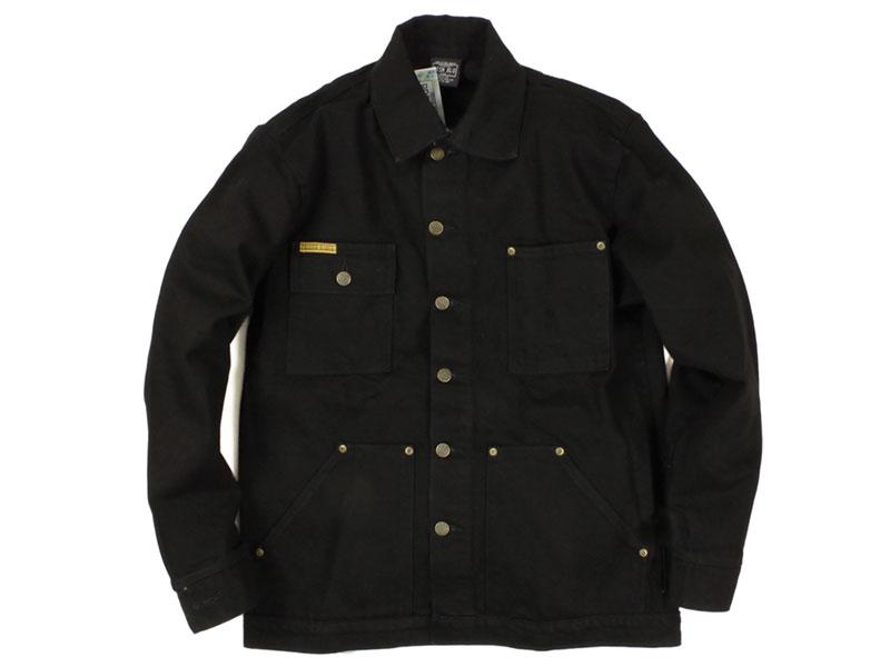 プリズンブルース PRISON BLUES デニムヤードコート 別注リンスドブラック(米国製 カバーオール ワークジャケット)