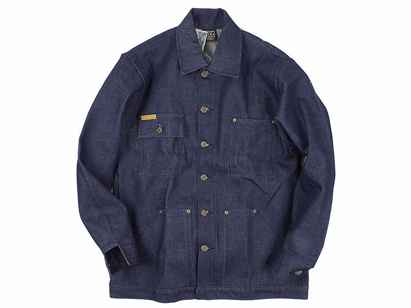プリズンブルース PRISON BLUES デニムヤードコート リジッドブルー(米国製 カバーオール ワークジャケット)