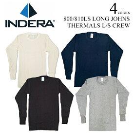 【返品不可】インデラミルズ INDERA MILLS 810LS/800LS LONG JOHNS サーマル アンダーウェア (ロンT THERMALS L/S CREW ワッフル 下着 メンズ)