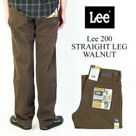 リー Lee #200 ストレート ジーンズ ウォルナッツ (父の日 STRAIGHT LEG JEAN WALNUT)