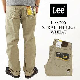 リー Lee #200 ストレート ジーンズ ウィート | STRAIGHT LEG JEAN WHEAT 定番 メンズ デニム レギュラーフィット 後染め ウォッシュ ボトムス パンツ シンプル カジュアル ウエスト28-42 レングス29-32 101Zの後継モデル