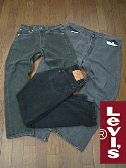 Levi's 501 LEVI's USED black waist 76-100 cm (distressed denim jeans jeans pants)