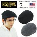 ニューヨークハット NEWYORK HAT ハンチング ウールメルトン 1900 (アメリカ製 米国製 WOOL MELTON 1900)