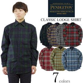 ペンドルトン PENDLETON 長袖 ウールシャツ クラッシック ロッジシャツ(CLASSIC LODGE SHIRT チェックシャツ)