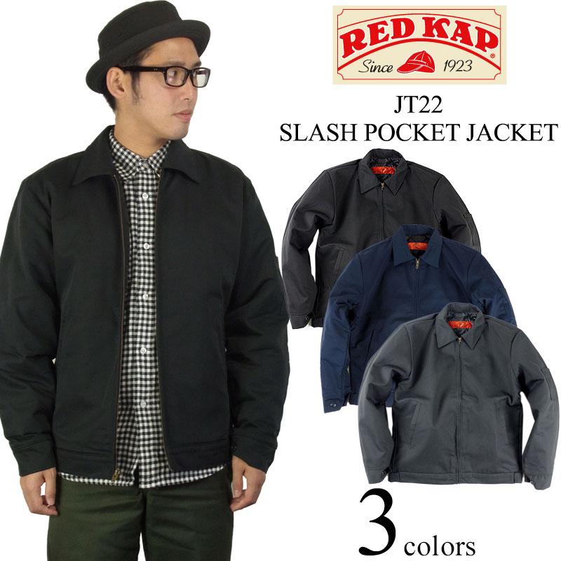 レッドキャップ REDKAP #JT22 スラッシュポケット ワークジャケット BIG SIZE(大きいサイズ SLASH POCKET JACKET)