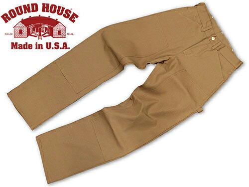 ラウンドハウス ROUND HOUSE #2202 ダブルフロント ブラウンダック ペインターパンツ MADE IN USA (米国製)
