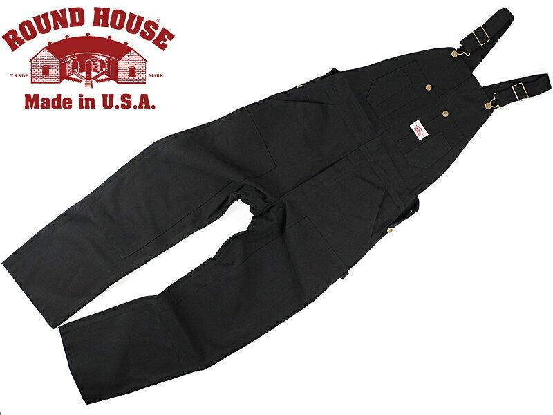 ラウンドハウス ROUND HOUSE #383 ヘビーデューティー ブラックダック オーバーオール MADE IN USA (米国製 )