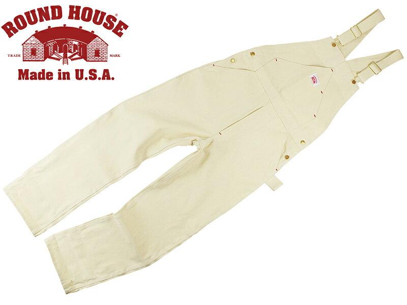 ラウンドハウス ROUND HOUSE #71 ペインター ビブ オーバーオール ナチュラルドリル MADE IN USA (米国製 )