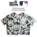 レインスプーナー REYN SPOONER 半袖 アロハシャツ フルオープン シーニック メジャーリーグ公式 2020年モデル (メンズ S-XXXL MLB SCENIC)