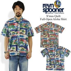 レインスプーナー REYN SPOONER 半袖 フルオープン アロハシャツ ハワイアンクリスマス 2018 (Hawaian X'mas クリスマス 限定柄)