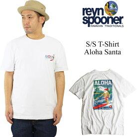 レインスプーナー REYN SPOONER 半袖Tシャツ アロハサンタ (クリスマス限定柄 ALOHA SANTA)