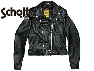 Shot SCHOTT 218 W lamb one star women's ダブルライ dozen black (leather jacket WOMENS LAMB ONE STAR RIDERS)