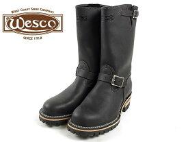 """ウェスコ Wesco #7700100 エンジニアブーツ ボス 11"""" ブラック スティールトゥ (ウエスコ アメリカ製 米国製 BOSS 11"""" Steel toe)"""