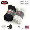 ウィグワム Wigwam クルーソックス スーパー60 3足セット (米国製 SUPER60 CREW 3P 靴下)