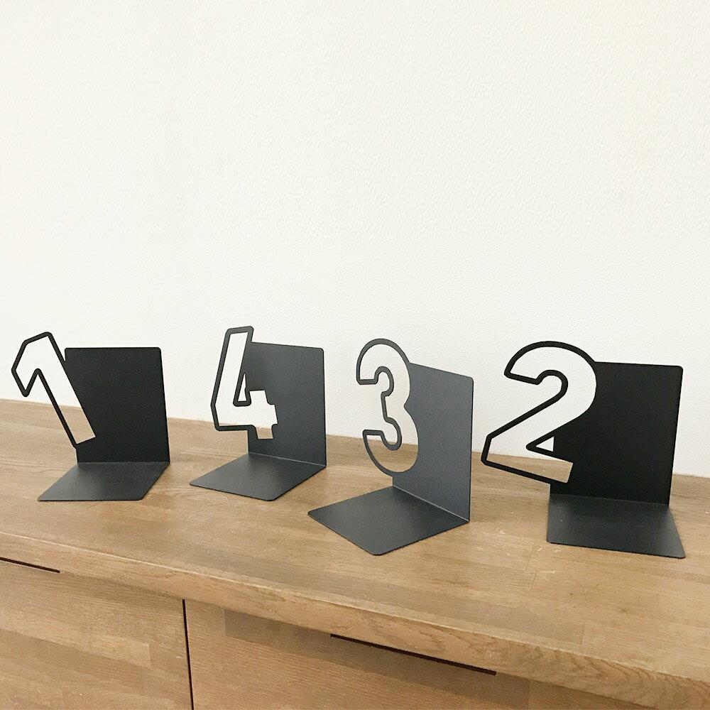 Book Stand_Number 本立て ブックエンド ブックスタンド おしゃれ アンティーク デザイン インテリア CDスタンド 置物 オブジェ ブックストッパー ギフト【送料無料】