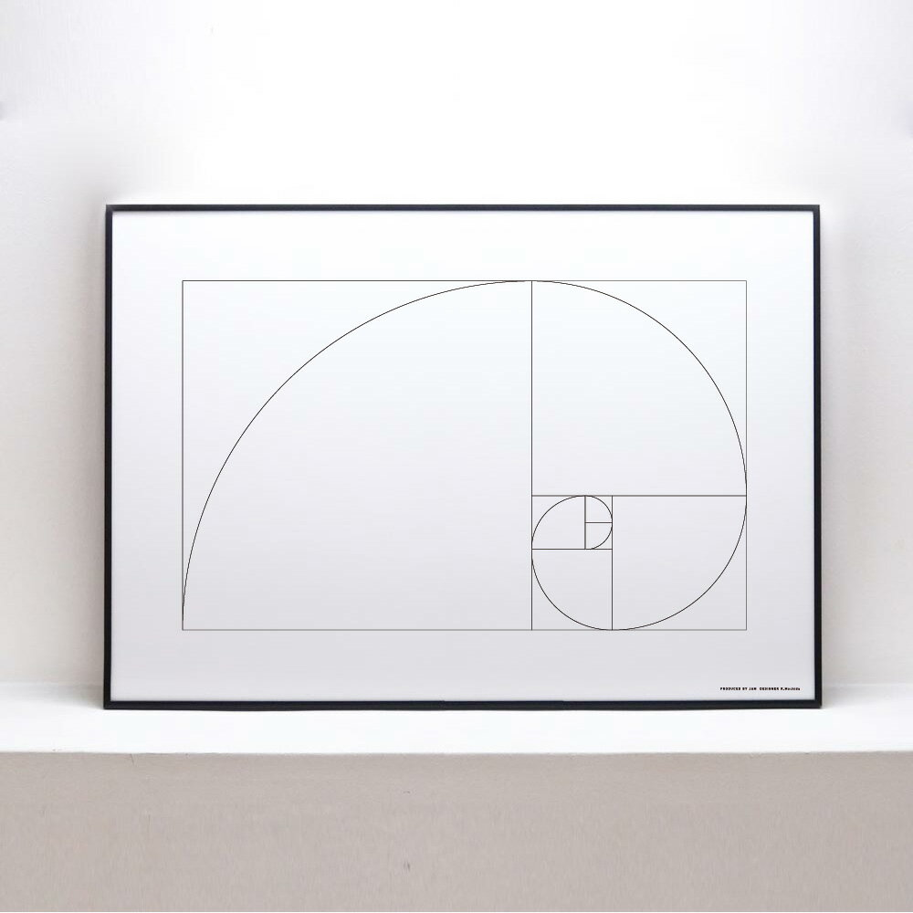 【Goldenratio】ポスター B2 北欧 アートポスター デザイナーズ モノクロ インテリア おしゃれ ※フレーム別売り