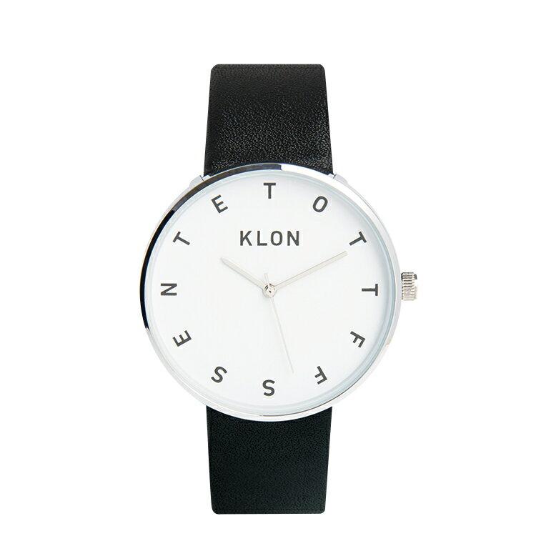 KLON 腕時計 ALPHABETTIMEクローン おしゃれ本革ユニセックスモノトーン