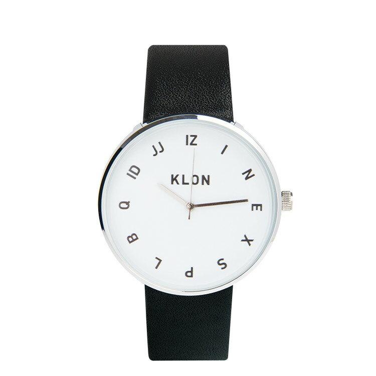 KLON 腕時計 MOCK NUMBERクローン おしゃれ本革ユニセックスモノトーン