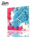 ファブリックパネル 掛け時計 Digital Flower Shower 壁掛け時計 北欧 置時計 ファブリック時計