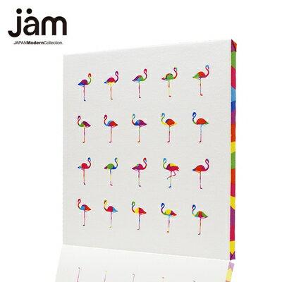 壁掛けファブリックパネル『camou-flamingo(カモフラミンゴ)』オリジナル ブランド アートパネル ファブリックパネル 北欧雑貨 インテリアパネル 30×30cm ファブリックボード