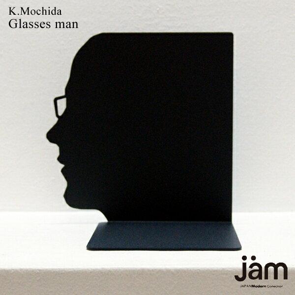 Face book stand (Glasses man)|本立て|ブックエンド|ブックスタンド|おしゃれ|アンティーク|デザイン|インテリア|CDスタンド|置物|オブジェ|ブックストッパー