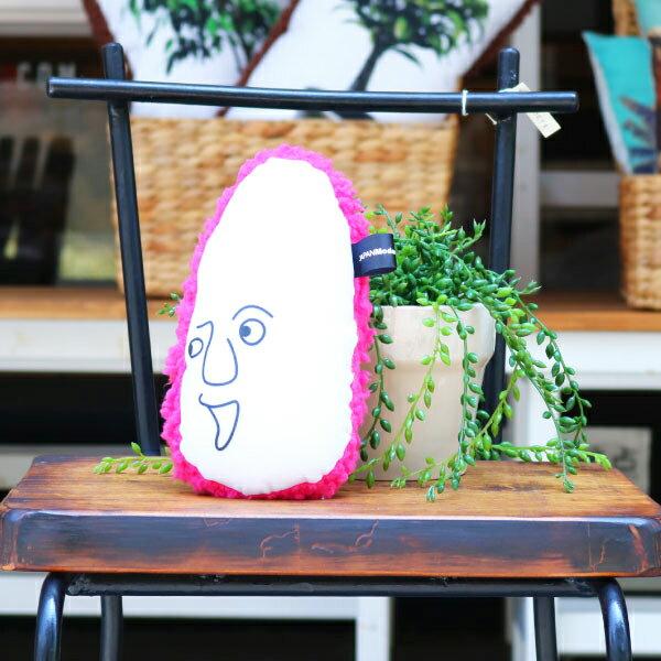 ピンクノニギニギ[DeskdeNIGINIGI]ふわふわクッション オリジナル 腰当 首あて ツボ押し 肩たたき リストレスト インテリア雑貨 デザイン雑貨 おしゃれ パソコンクリーナー マウスパッド