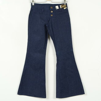Deadstock brand-new use 70s Lee 4108941 USA-made bell bottom denim jeans Womens w30 vintage Lee /wei1017 150722