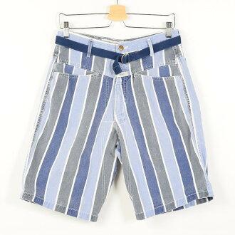 80年代maritefuransowajirubosutoraipu花纹USA制造棉布短裤短裤w32复古MARITHE FRANCOIS GIRBAUD/wep6794 160609