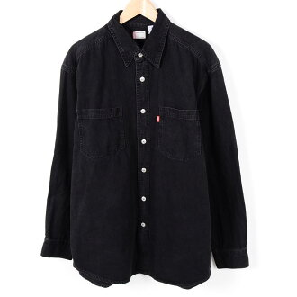 李維斯長袖子粗斜紋布襯衫人XL Levi's/wev9528 160812