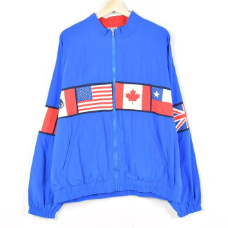 National flag pattern nylon jacket men XL SANTIAGO SPORTA 1541 /wev2747