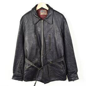 50年代 ルイスレザー AVIAKIT ロンジャン シングルカーコートジャケット メンズL ヴィンテージ Lewis Leathers /weu8446 【中古】【n1610】 160930