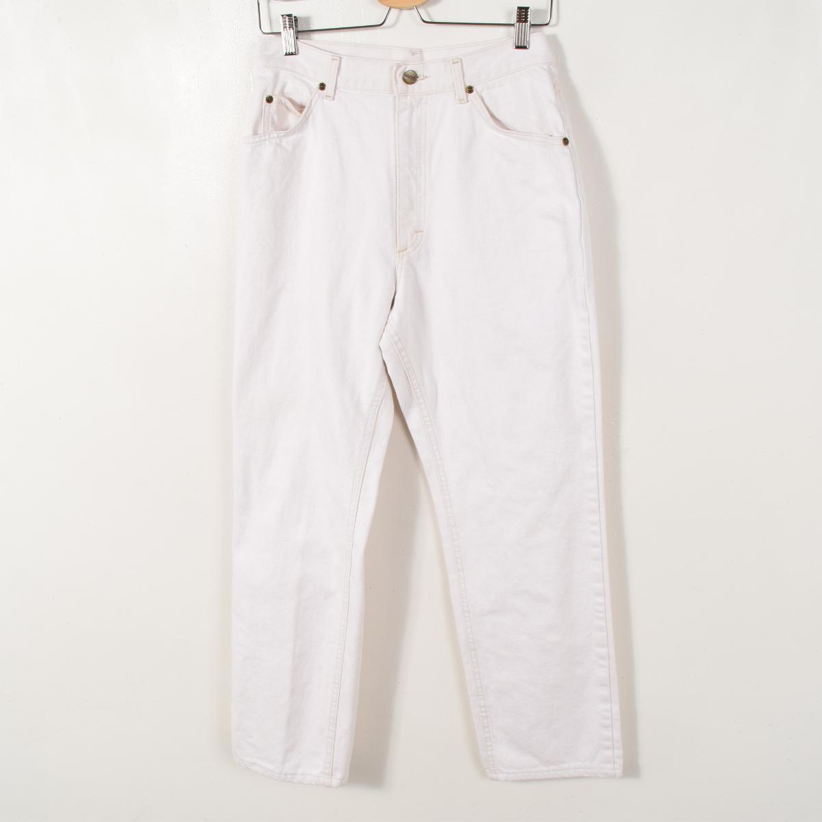 80年代 エルエルビーン USA製 ホワイトジーンズ テーパードデニムパンツ レディースL(w29) ヴィンテージ L.L.Bean /wae3249 【中古】 【170529】