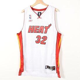 リーボック NBA MIAMI HEAT マイアミヒート SHAQUILLE O'NEAL シャキール オニール ゲームシャツ レプリカユニフォーム メンズXL Reebok /wae3510 【中古】 【170616】
