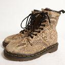 ドクターマーチン 英国製 蛇柄 8ホールブーツ UK4 レディース22.5cm Dr.Martens /bol1659 【中古】 【170528】