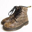 ドクターマーチン 英国製 蛇柄 8ホールブーツ メンズ25.5cm Dr.Martens /bol1780 【中古】 【170530】