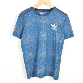 アディダス adidas ORIGINALS オリジナルス 総柄 ロゴTシャツ メンズS /wae9087 【中古】【古着屋JAM】 【180326】【PD1806】【SS1906】【SS1907】