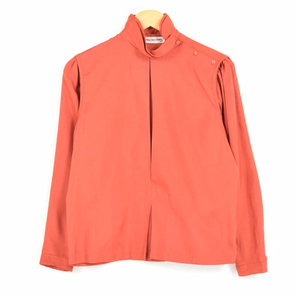 Tokyo blouse SPORTS スタンドカラー 肩ボタン 長袖 プルオーバーブラウス レディースM /wah2013 【中古】 【170901】