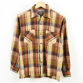 60〜70年代 ペニーズ Penney's TOWNCRAFT タウンクラフト オープンカラー ウールボックスシャツ メンズS ヴィンテージ /wam2849 【中古】【古着】 【171209】【SS1903】【SS1909】【TS1909】