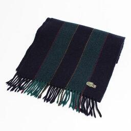70年代拉科斯特LACOSTE CHEMISE條紋花紋法式拉科斯特羊毛圍巾復古/anb7509