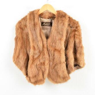 50s mink fur rial fur cape shawl Lady's adjustable size vintage /wao0514