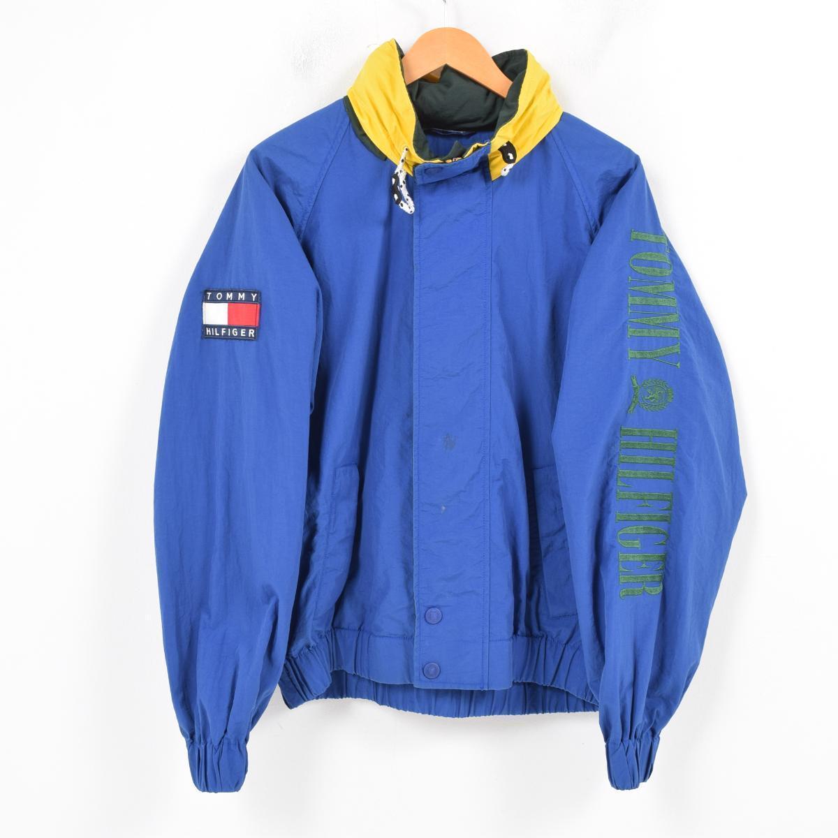 90年代 トミーヒルフィガー TOMMY HILFIGER 袖ロゴ刺繍 セーリングジャケット メンズXL /wal9042 【中古】 【180203】