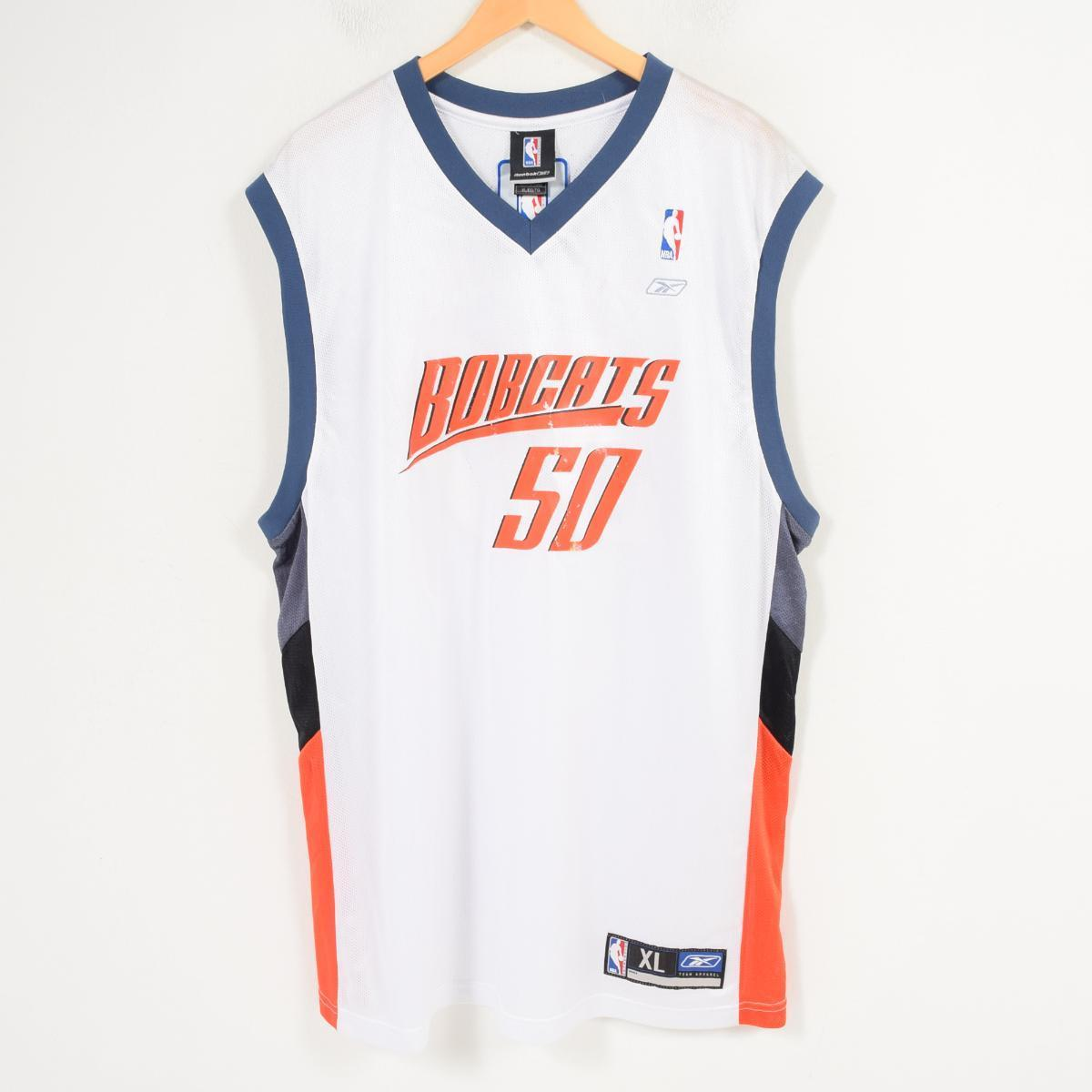 DEADSTOCK デッドストック リーボック Reebok NBA CHARLOTTE BOBCSTS シャーロットボブキャッツ ゲームシャツ レプリカユニフォーム メンズXL /wap0662 【中古】 【180403】