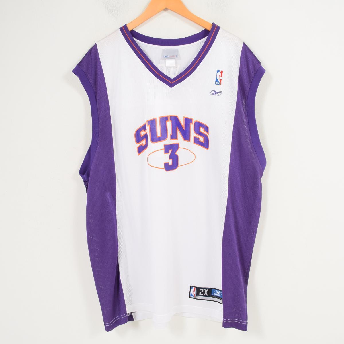 リーボック Reebok NBA PHOENIX SUNS フェニックスサンズ Stephon Marbury ステフォンマーブリー ゲームシャツ レプリカユニフォーム メンズXXL /wap0666 【中古】 【180323】