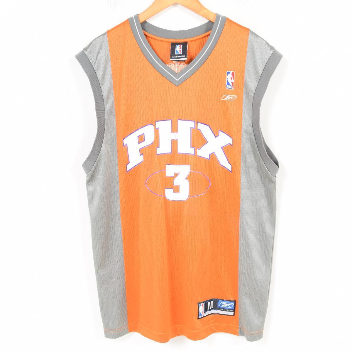 リーボック Reebok NBA PHOENIX SUNS フェニックスサンズ ジェイソンリチャードソン ゲームシャツ レプリカユニフォーム メンズM /wap1005 【中古】 【180323】