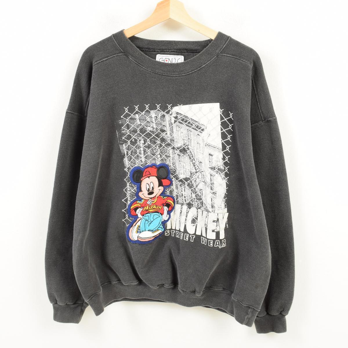 GENUS MICKEY MOUSE ミッキーマウス キャラクタースウェットシャツ トレーナー USA製 フリーサイズ /wan5646 【中古】 【180330】