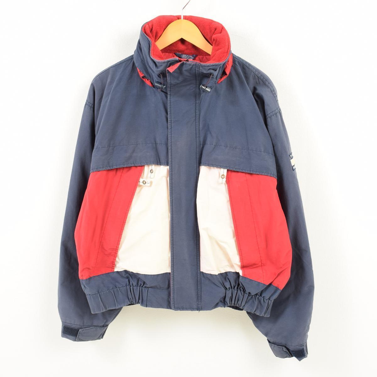 90年代 トミーヒルフィガー TOMMY HILFIGER 袖ロゴ セーリングジャケット メンズXL /wan5852 【中古】 【180330】