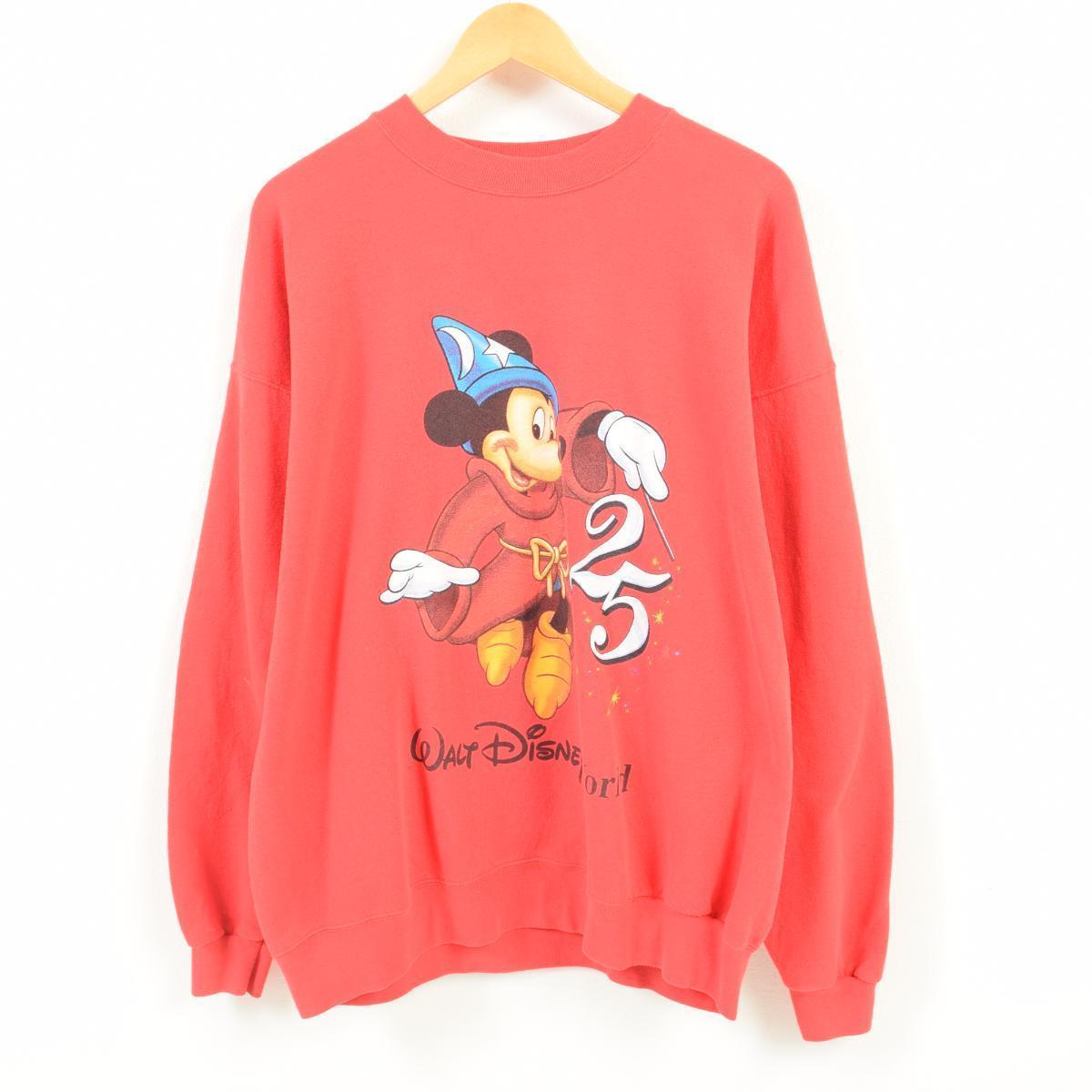 MICKEY MOUSE ミッキーマウス ファンタジア キャラクタースウェットシャツ トレーナー フリーサイズ /wan5673 【中古】 【180330】