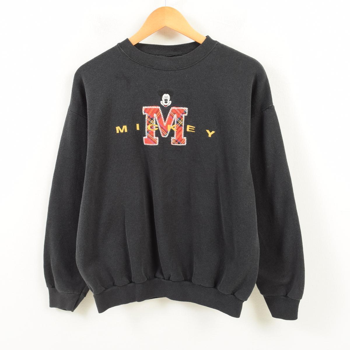 MICKEY UNLIMITED MICKEY MOUSE ミッキーマウス キャラクタースウェットシャツ トレーナー レディースL /wan5676 【中古】 【180330】