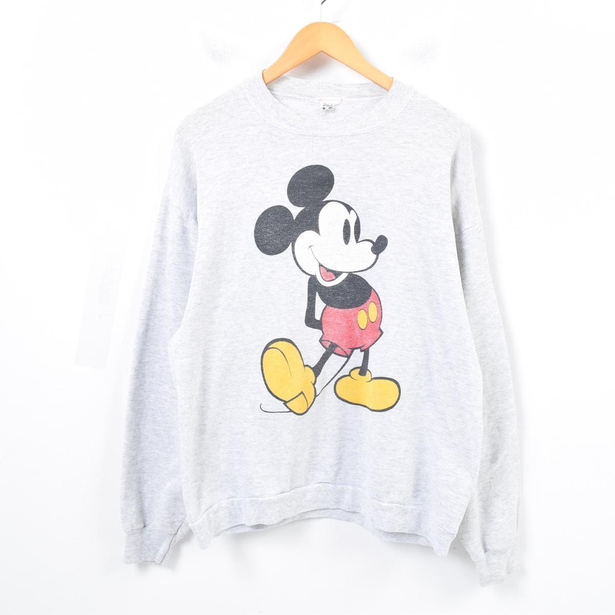 MICKEY MOUSE ミッキーマウス キャラクタースウェットシャツ トレーナー レディースL /wap3614 【中古】 【180329】